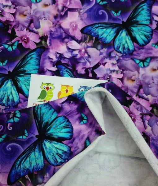 Kilpinis, skaitmeninės spaudos trikotažas Ryškūs drugeliai