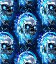 Kilpinis, skaitmeninės spaudos trikotažas Kaukolės mėlynos