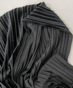 Sintetinis gofruotas veliūras Juodas